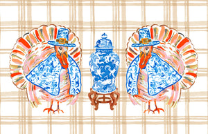 Chinois Turkey Thanksgiving Paper Tear-away Placemat Pad, Gravy