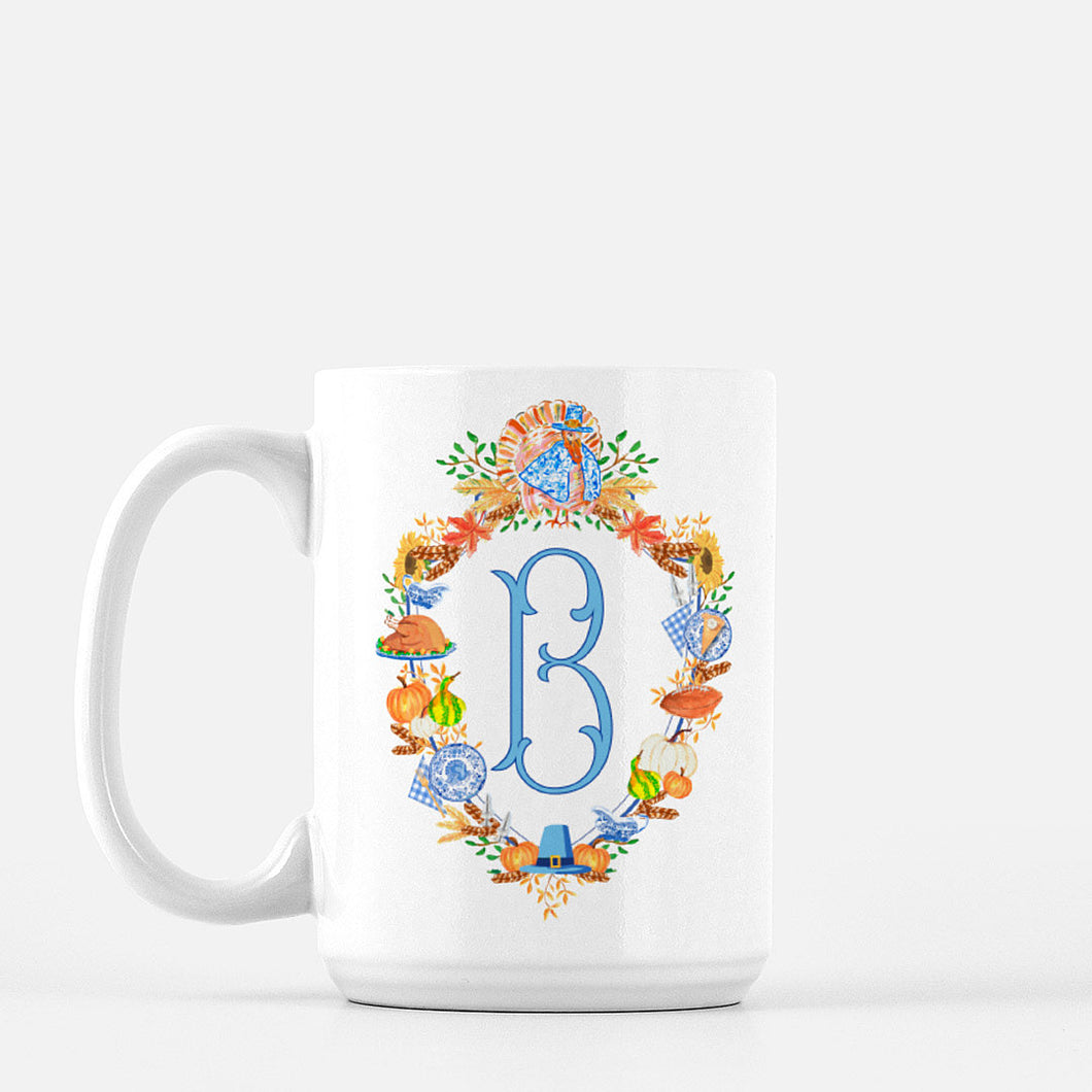 Thanksgiving Custom Crest Personalized Mug