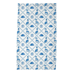 Thanksgiving Pilgrim Pooches Poly Twill Tea Towels, Set of 2, Blue