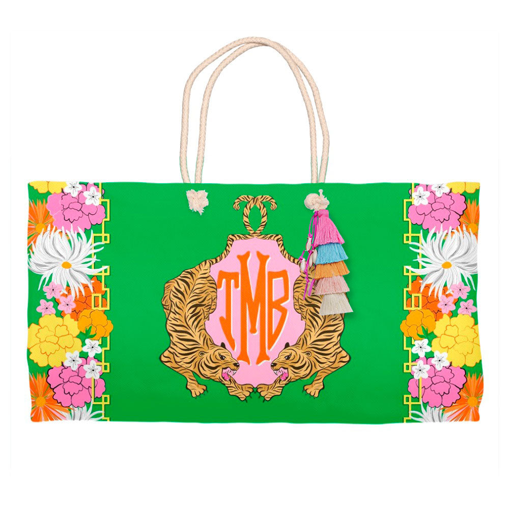 Enchanted Tiger Personalized Tote Bag