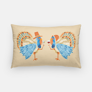 "Tipsy Turkeys Thanksgiving14""x20"" Pillow Cover, Autumn"