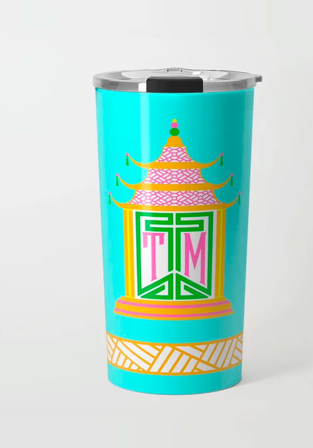 Royal Pagoda, Azurite, Stainless Steel Travel Tumbler