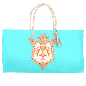 Seashell Crest Tote Bag, Seaglass