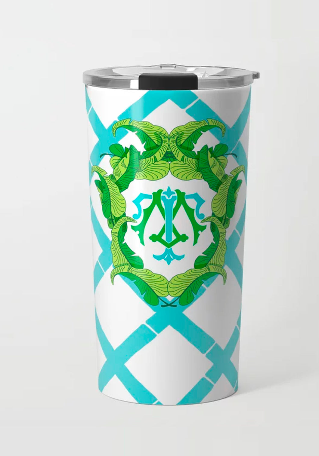 Banana Leaf Crest, Caribbean, Stainless Steel Travel Tumbler