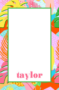 Vivid Jungle, Daybreak, Personalized Notepad, Multiple Sizes Available