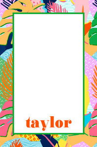 Vivid Jungle, Nightfall, Personalized Notepad, Multiple Sizes Available