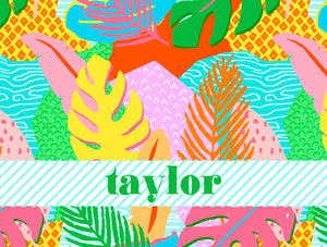 Vivid Jungle, Daybreak, Personalized Folded Note Cards