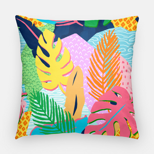 "Vivid Jungle, Nightfall, 20""x20"" Pillow Cover"