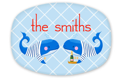 Whale, Yes, Please Personalized Melamine Platter