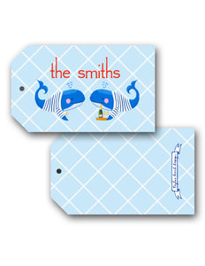 Whale, Yes, Please Personalized Hang Tags
