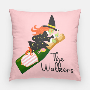 "Witch's Brew Halloween Personalized 20""x20"" Pillow Cover"