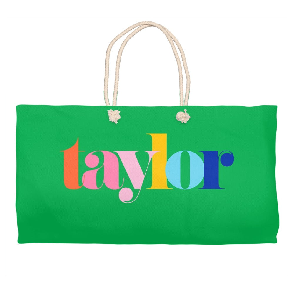 Make It Mine Personalized Tote Bag, Kelly