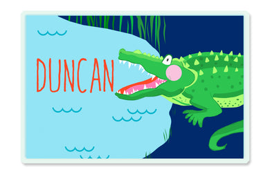 You Croc My World Alligator Children's Personalized Laminated Placemat