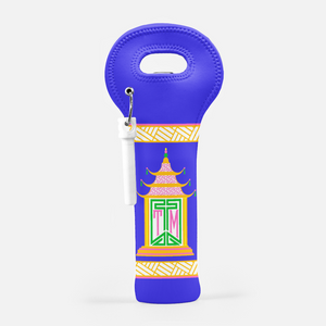 Royal Pagoda, Lapis, Wine Carrier with Cork Screw
