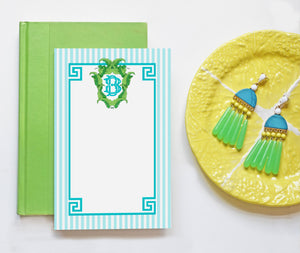 Banana Leaf Crest Personalized Notepad, Caribbean, Multiple Sizes Available
