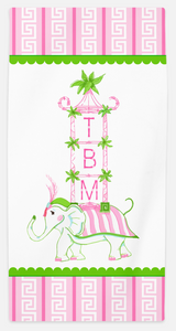 Elephant Pagoda Beach Towel
