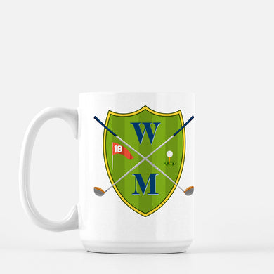 Men's Custom Golf Crest Personalized Mug