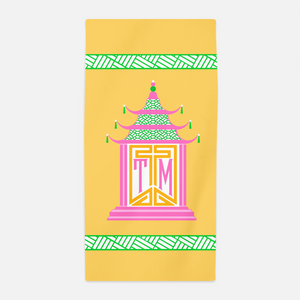 Royal Pagoda, Topaz, Beach Towel