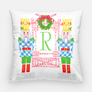 Nutcracker Sweet Holiday Personalized Pillow Cover, Snowfall