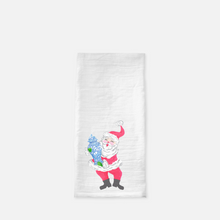 Load image into Gallery viewer, St. Chinoiserie Christmas Holiday Flour Sack Tea Towel