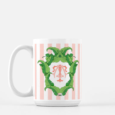 Banana Leaf Custom Crest Mug