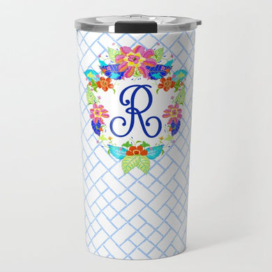 Tobacco Leaf Crest Personalized Travel Tumbler