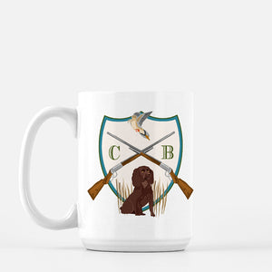Men's Custom Dove Hunt Crest Personalized Mug