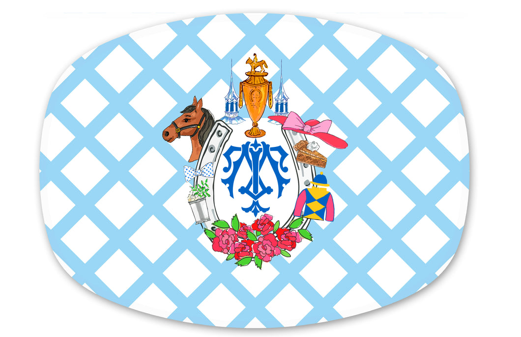 Kentucky Derby-Themed Melamine Platter