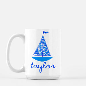 Chinois Sailboat Personalized Mug