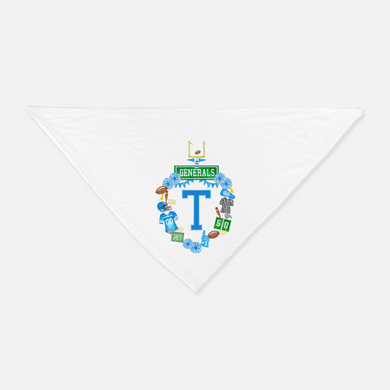 Custom Football Crest Pet Bandanna