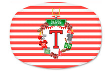 Load image into Gallery viewer, Design Your Own Football Crest in YOUR COLORS Personalized Melamine Platter