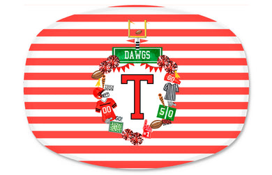 Custom Football Crest Personalized Melamine Platter