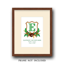Load image into Gallery viewer, Personalized Graduation Crest for Boys Art Print