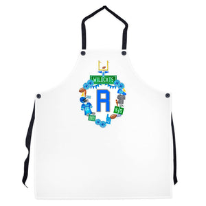 Design Your Own Football Crest in YOUR COLORS Personalized Striped Apron, Solid