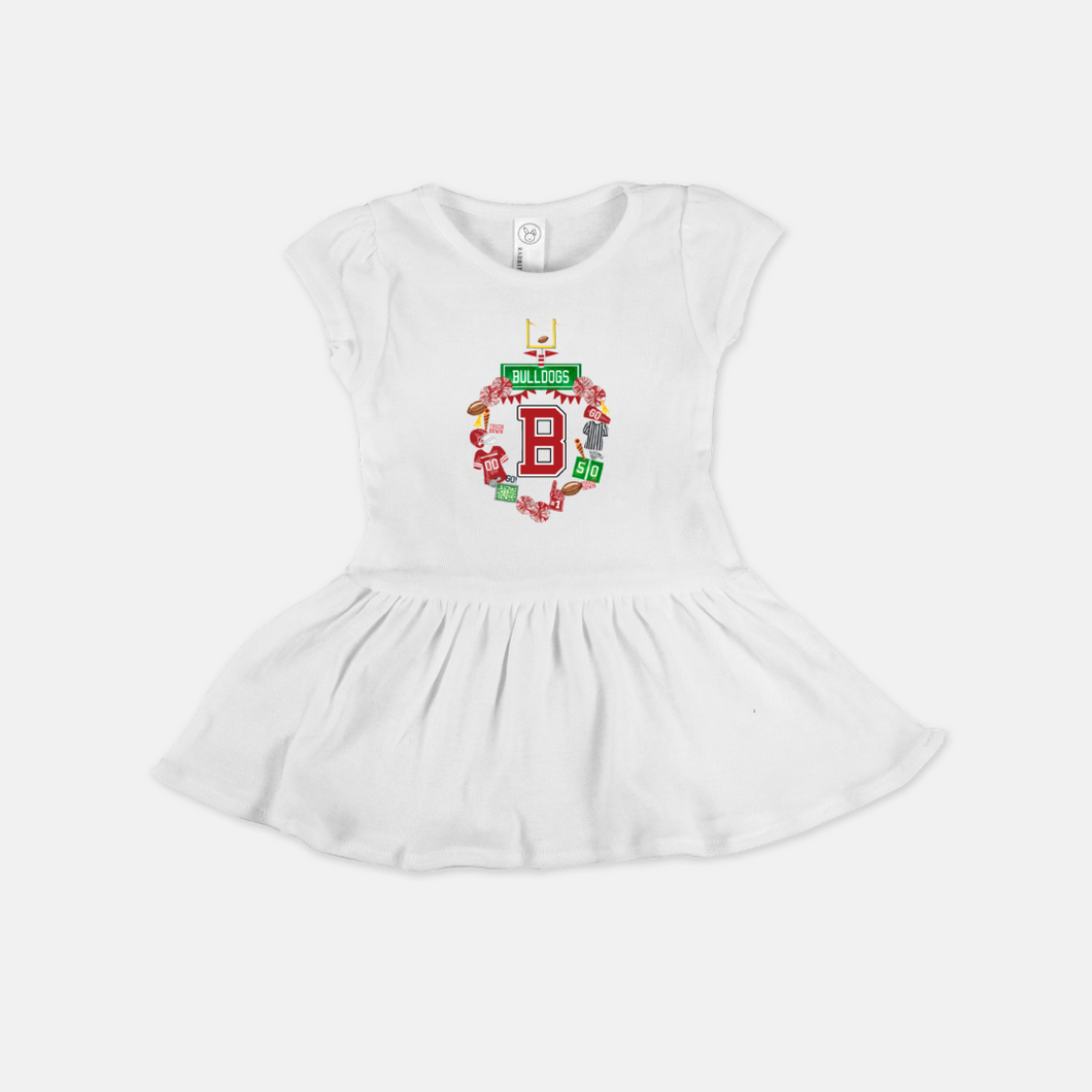 Design Your Own Football Crest in YOUR COLORS Personalized Cotton Baby / Toddler Dress