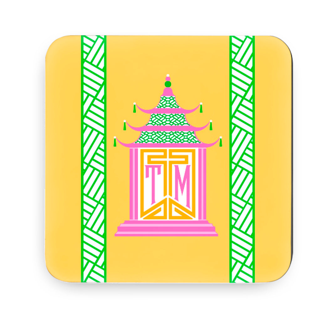 Royal Pagoda, Topaz, Cork Backed Coasters - Set of 4