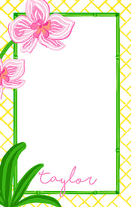 Pink Orchid Personalized Notepad, Multiple Sizes Available