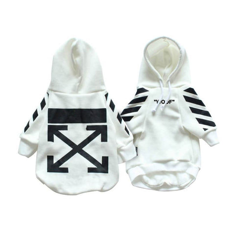 WOFF-WHITE CAUTION HOODIE - PupremeNewYork