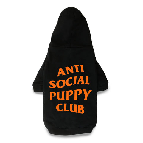 Anti Social Puppy Club Dog Hoodie - PupremeNewYork