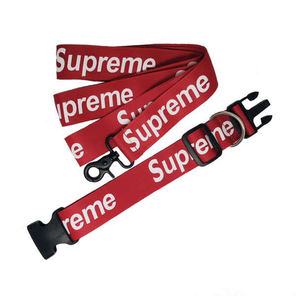 PUPREME COLLAR & LEASH SET - PupremeNewYork