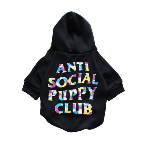 Anti Social Puppy Club x Bathing-Pup Dog Hoodie - PupremeNewYork