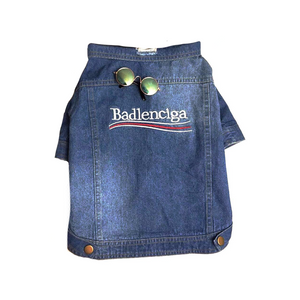 BADLENCIAGA DENIM JACKET - Pupreme - STREETWEAR FOR DOGS