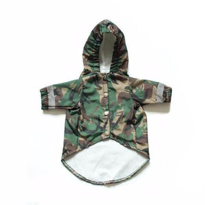 A BARKING PUP CAMO WINDBREAKER - Pupreme - STREETWEAR FOR DOGS