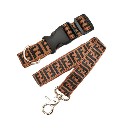 FEFE MONOGRAM LEASH & COLLAR - PupremeNewYork