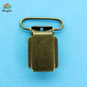 Antique Brass Suspender Clip