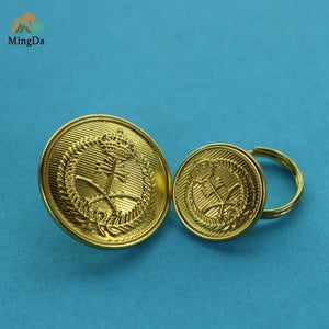 Brass Button Badge For Military Uniform