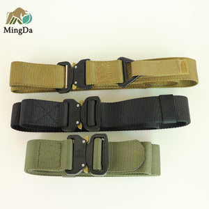 Nylon Belt With Cobra Buckle And Tri-Gilde