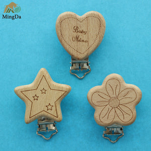 Wooden Clip With Laser Logo