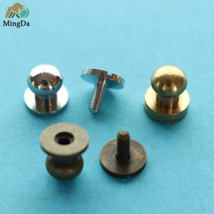 Brass Screwback Stud Button