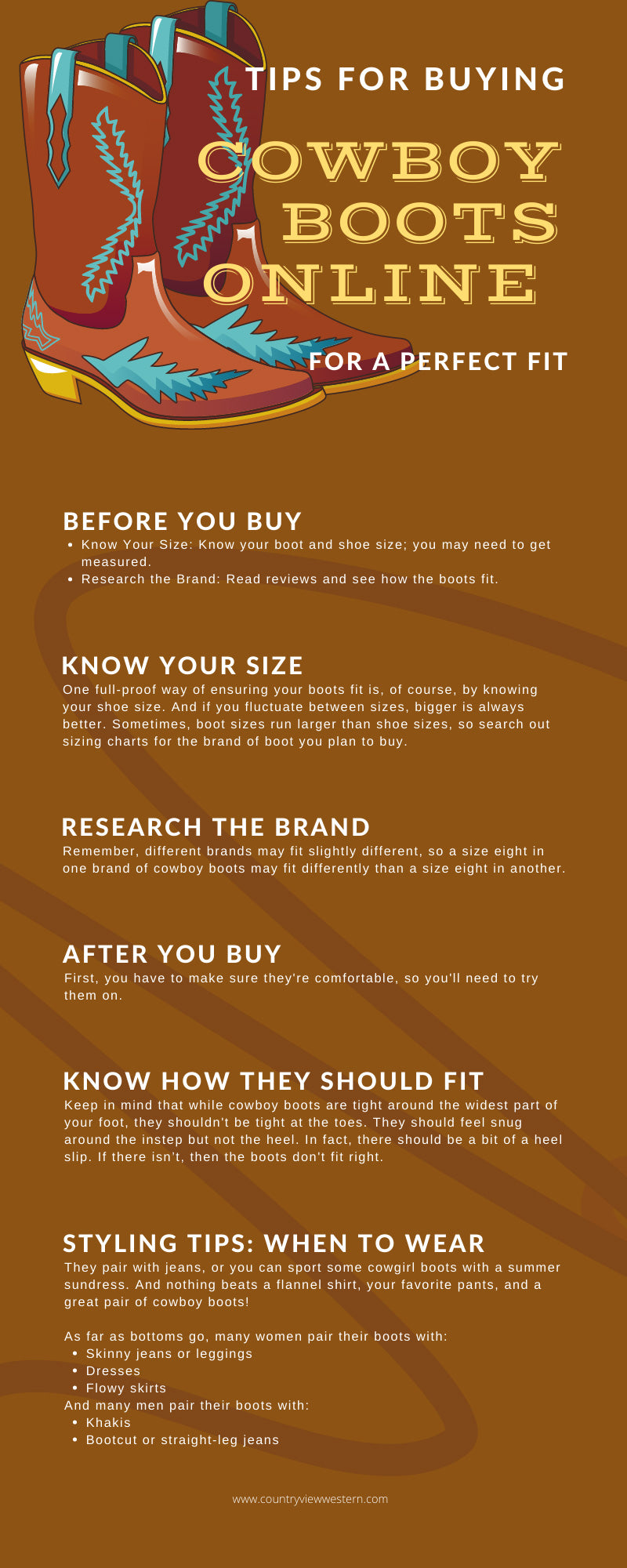 Tips for Buying Cowboy Boots Online for a Perfect Fit